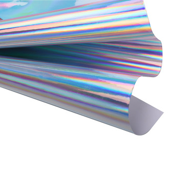 Sunice Car Styling Holographic Chrome Rainbow Lettering Film DIY Decorative Film Self Adhesive Sticker Decals 60x50cm image