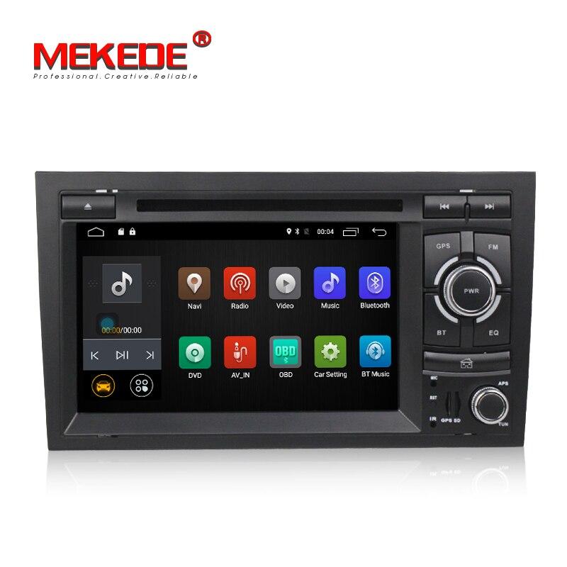 Livraison gratuite! lecteur DVD Gps de voiture 7 pouces 2din Android7.1 pour Audi A4 S4 2002-2008 support audio vidéo 4G lte wifi BT