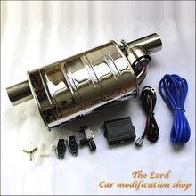 Универсальный 2,5 дюйм(ов) 63 мм пятно меньше стали электрический клапан выхлопной трубы автомобиля глушитель пульт дистанционного управления самосвал выпускной клапан вырез