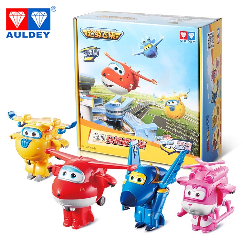 4pcs/set Mini Super Wings High Quality Original JETT DIZZY DONNIE ASTRA MIRA Deformation Action Figures Toys Children Gift Model newest 18pcs set super wings mini figures toys superwings jett airplane robot action figures birthday gift for kid brinquedos