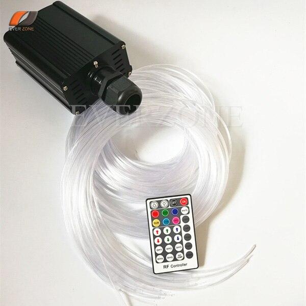 Sensory Sparkle Optic Fiber Light Kit 80pcs 3*0.75mm 3m with 16W LED Light Source RF Remote Controller