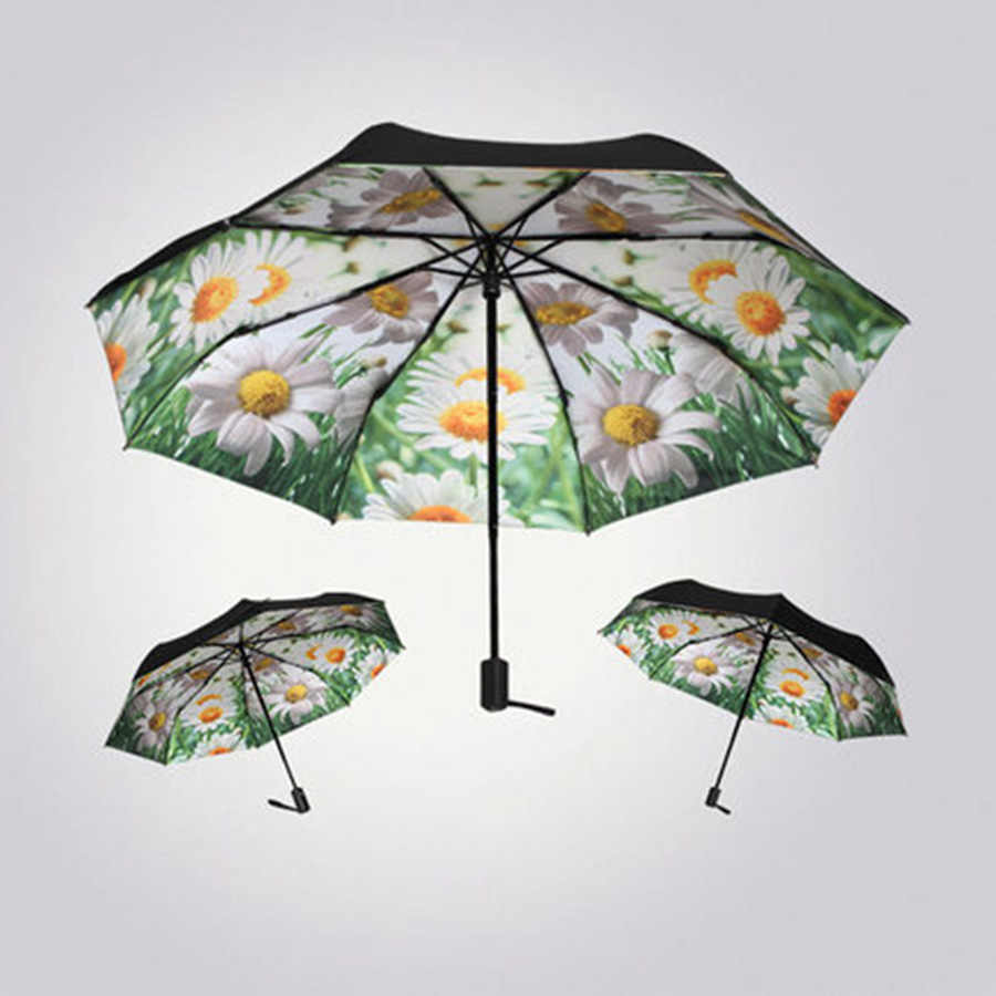 Van Gogh Rain Umbrella Automatic Folding Sun UV Women Unique Personalized Male Novelty Umbrella Vintage Decoration Modis 40YS152