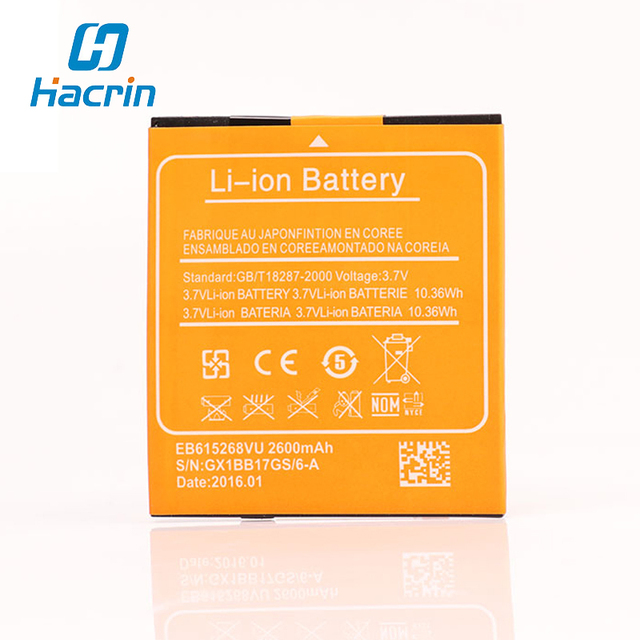 Hacrin For Mijue M680 Battery New EB615268VU 2600mAh Battery for mijue M680 Android Cell Phones In Stock+Track Code