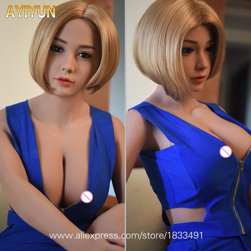 AYIYUN Top Qualité Réel Silicone Poupée de Sexe Réaliste Fille Mannequins Gros Seins Adulte Sexy Poupée Japonais Poupées D'amour pour les Hommes