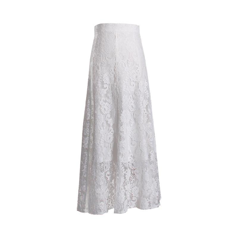Las Algodón Primavera 2019 Negro Mid Y Envío 100 De 2xl Encaje Tamaño Gratis Verano Mujeres Formal calf S Blanco Plus Faldas Vestido YSq54H