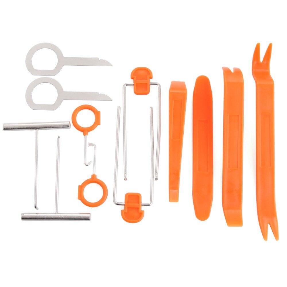 12Pcs Plastic Car Panel Remove Kits Auto Radio Door Clip Panel Trim Dash Audio Removal Installer Pry Tool Repairing Set
