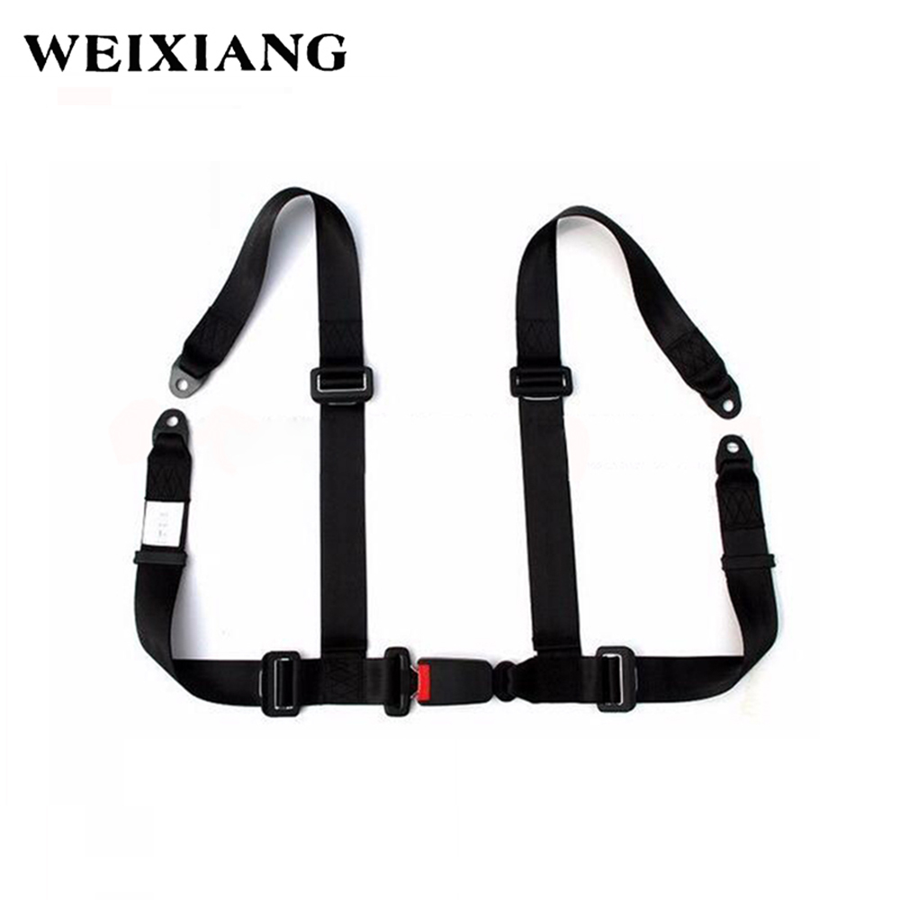 Universal 4PT 4 Point Sport Racing Seat Safe Harness Car Seat Belt Safety Harness For Entertainment Devices