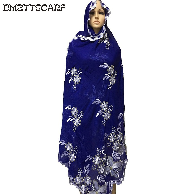 2019 New Fashionable Big flowers new fashion muslim embroidery scarf multinational long scarf shawls wrap FREE SHIPING