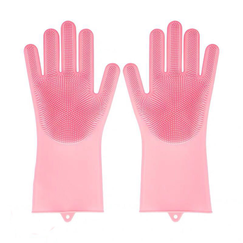 multifunction silicone cleaning gloves with scrubber for kitchen household and dish washing