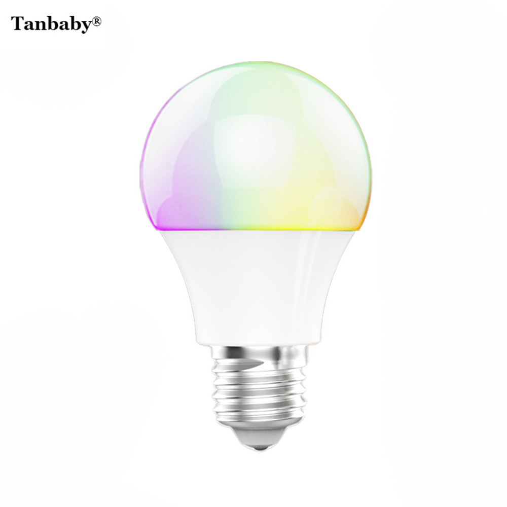 Tanbaby 4 5w e27 rgbw led light bulb bluetooth 4 0 smart lighting lamp color change dimmable for Smart light bulbs