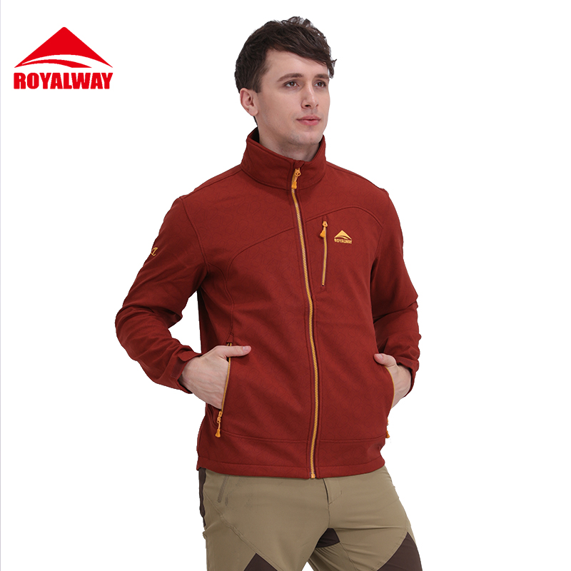 ФОТО ROYALWAY 2017New Arrivals Outdoor Jackets Men Camping Hiking Jackets Male Sport Coat#RFFM3375F