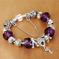 HOMOD Luxury Crystal Women Charm Bracelet Silver Plated Charms Beads fit Brand Bracelet for girls Diy Jewelry Gift