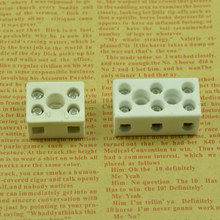 Ceramic connectorwire Double wire connector Three rows of wiring Ceramic connecting terminal DIY lighting accessories(China)