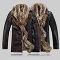 Новый конструктор человек Дубленки мехом воротник куртки мода теплое зимнее пальто