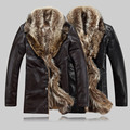 Hombre nuevo diseñador de piel de Oveja de cuello de piel de moda cálida chaqueta de abrigo de invierno