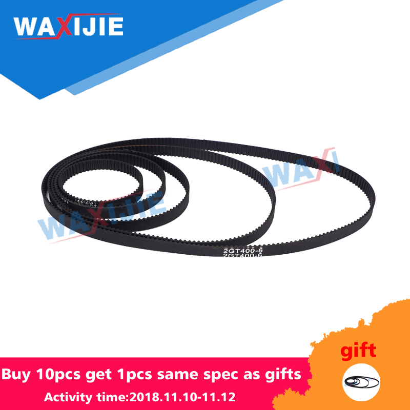 GT2 Timing Belts 3D printer accessories 2GT 6mm Closed Loop synchronous belt belt rubber transmission gear 6mm wheel belt gt2 closed loop timing belt rubber 2gt 6mm 3d printers parts 110 112 122 158 200 280 300 400 610 852 mm synchronous belts part