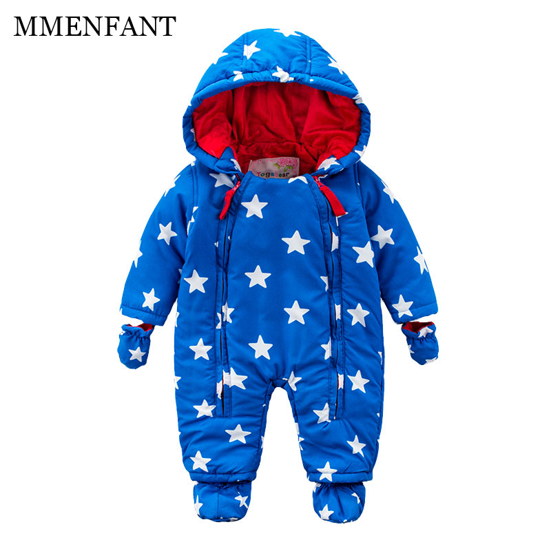 Newborn Bebe Jumpsuit baby Rompers winter Baby Boy Girl Five-pointed star cotton Infant Babies Clothes snowsuit hooded Jumpsuit baby boy clothes bebe casual girl clothes little baby infantil jumpsuit baby girl clothes infant girl gentle baby set r3052