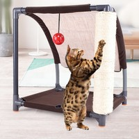 New Slope Sisal Cat Scratch Climbing Frame Cat Scratch Board Cat Indoor Climbing Tool Cat Scratching Toy Wood Luxury Furniture