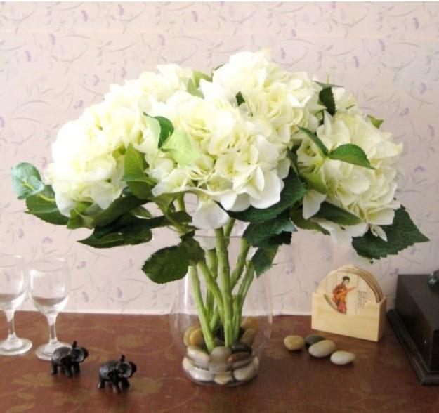 Online shop faux hydrangea artificial flower tables centerpiece image mightylinksfo