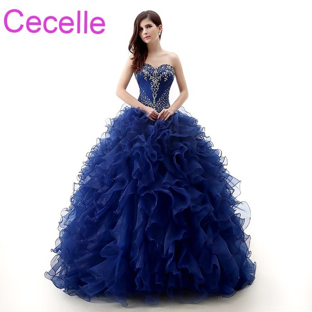 Aliexpress.com : Buy Royal Blue Ball Gown Prom Dresses 2018 Vintage ...