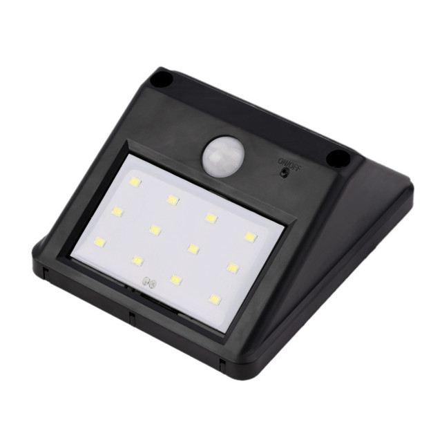 Bright 8LED Solar Outdoor Light, PIR Sensor Motion Activated Waterproof Solar Exterior Security Light Lamps for Balcony Stairs