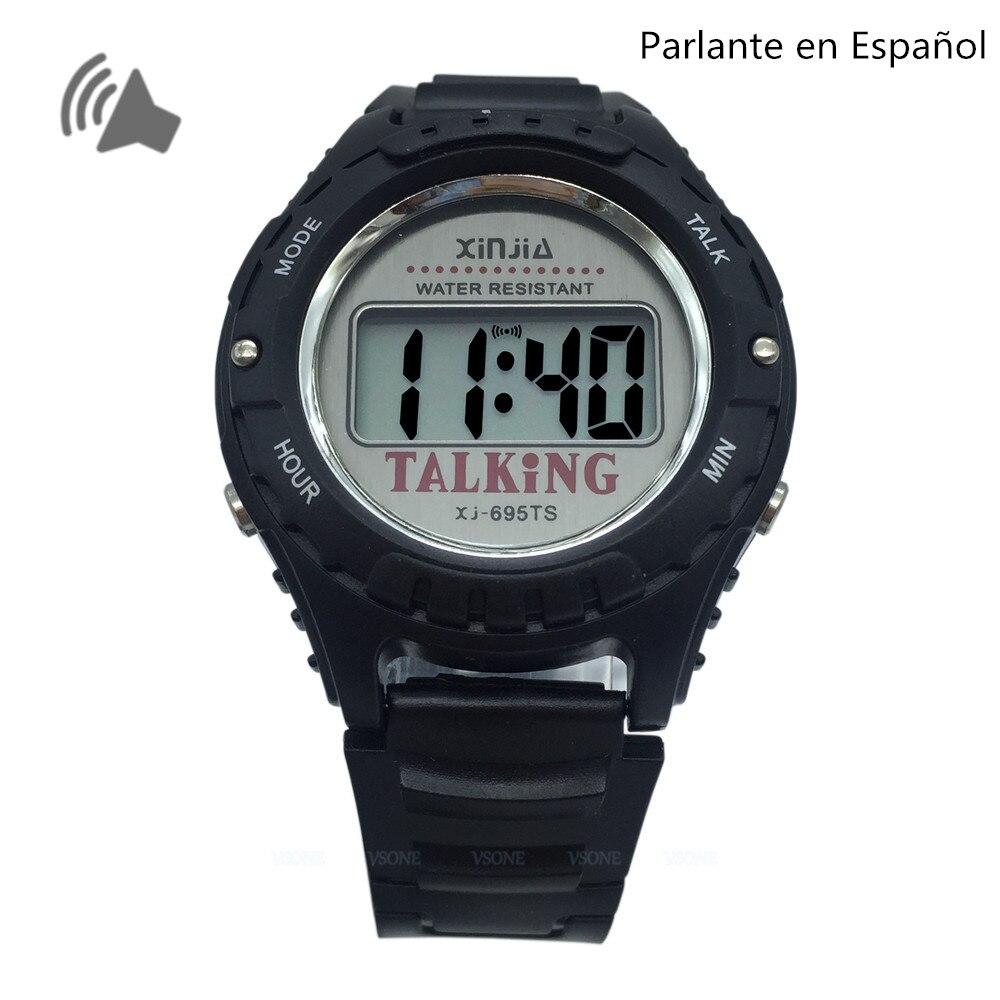 Relógios de Pulso Espanhol Falando Relógio Eletrônico Digital Sports