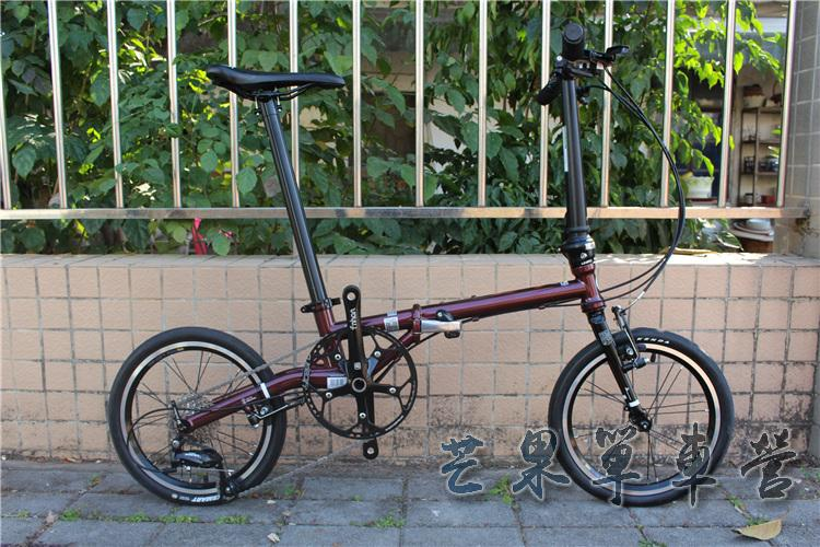 "HTB1scGJXJfvK1RjSszhq6AcGFXaB Fnhon CR-MO Steel Folding Bike 16"" Minivelo Mini velo 9 Speed Bike  Bicycle overall bike V Brake"