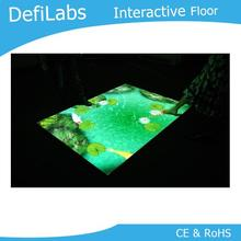 DefiLabs Интерактивная напольная система для цифровых вывесок, вы можете изменить свой собственный логотип, изображение, видео, аудио