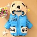 2017 New Baby Girls Boys Jacket Kids Winter Cartoon Bear Cotton Keeping Warm Coat Chirdren Lovely Hoodies Vest