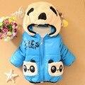 2017 Novo Bebê Meninos Meninas Crianças Jaqueta de Inverno Casaco de Urso Dos Desenhos Animados de Algodão Manter Quente Chirdren Encantador Hoodies Colete