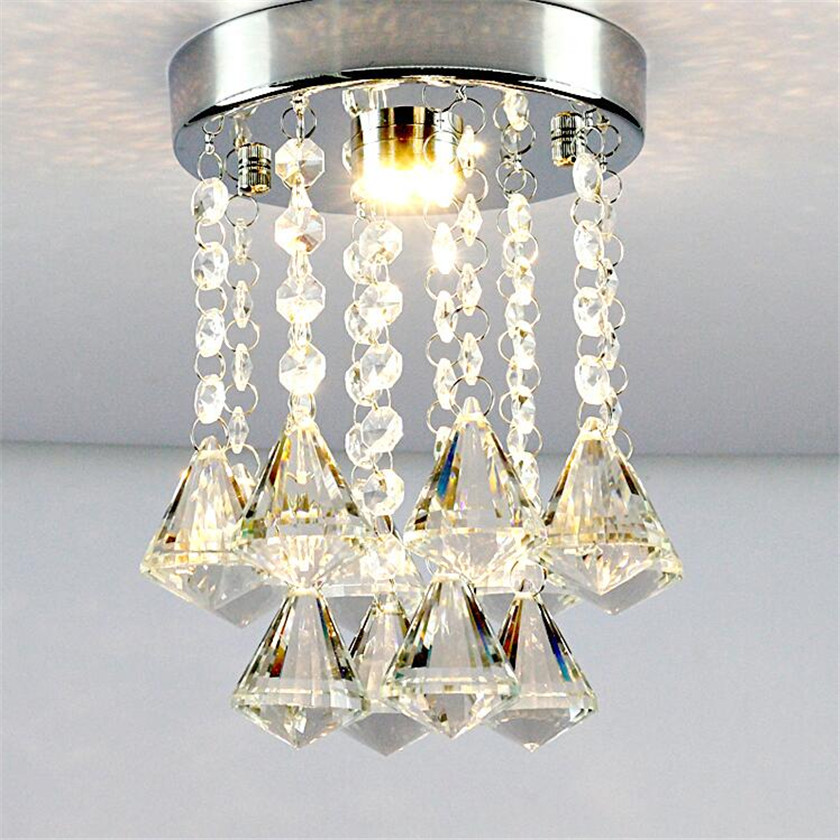Modern Round Led Ceiling Lights Entrance Kitchen Lights Crystal Lusters Balcony Aisle Corridor Staircase Ceiling Lamp Plafond romanson часы romanson tl0392mw wh коллекция gents fashion