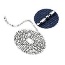 Joyería Collar Plateado Collar de Cadena de Cuero para Los Hombres Las Mujeres de Acero Inoxidable Cadena De Bolas de BRICOLAJE Accesorios de La Joyería Collar(China (Mainland))