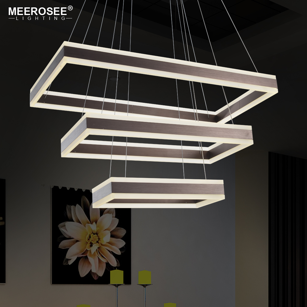 Plafonnier Suspendu Led Us 388 35 Off Modern Led Pendant Lights 3 Rectangles Living Room Dining Room Luminaire Suspendu Led Lustre Lamparas De Techo Colgante Moderna In
