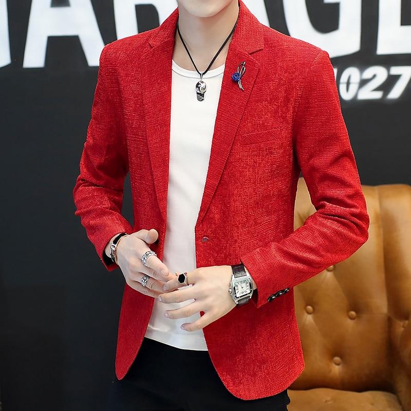 HOBO 20019 Men's Cultivate One's Morality Handsome Blazer Personality Fashion Pure Color Blazer