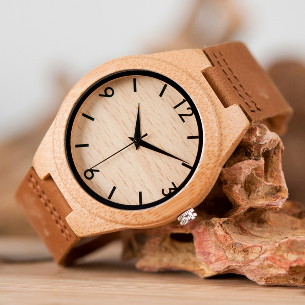Image 5 - TOP Luxury Brand Watch BOBO BIRD Women Wristwatches Handmade Ladies Wood Watches With Genuine Leather relogio feminino C A32-in Women's Watches from Watches