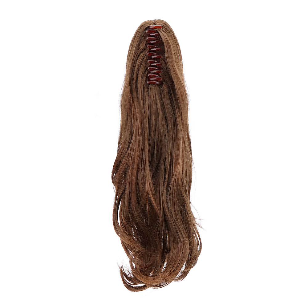 Drawstring Ponytail Wigs Hair-Extensions Claw-Clip Natural Synthetic Women for 18-