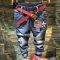 Pantalones Vaqueros de los niños Niñas 2017 Pantalones de Algodón de Mezclilla de Moda Primavera/Otoño de los Bebés Casual Jeans Cintura Elástico Niños Pantalones 5-10Yrs