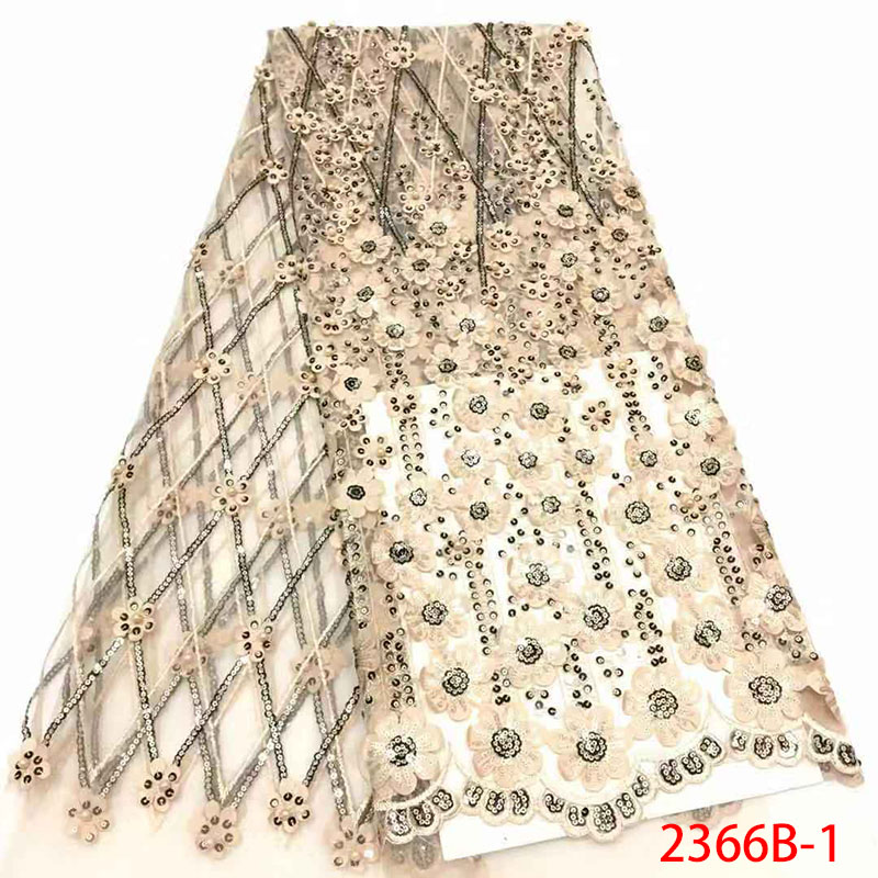Sequin Lace Fabric High Quality French Mesh Lace Fabrics with Sequins African Tulle Net Lace Fabric
