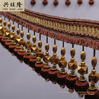 XWL 15M Lot Beads Curtain Lace Trim DIY For Sewing Drapery Pillow Sofa Decorative Lace Ribbon