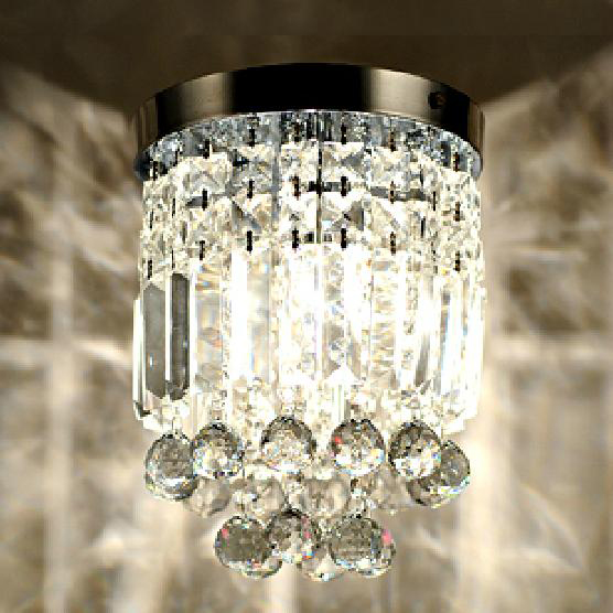 Simple modern crystal ceiling lamps  aisle lights K9 entrance hall bedroom lamps lighting white|aisle light|modern crystal ceiling lamp|crystal ceiling lamp - title=