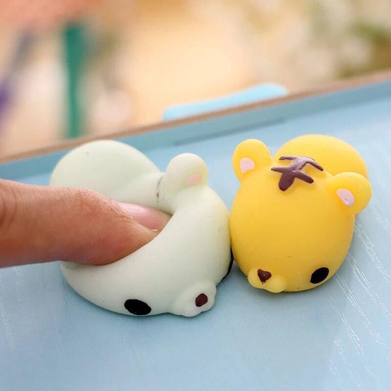 Kawaii Squishy Slow Rising Animal Press Mochi Squeeze Stretchy Panda Chicken Duck Sheep Pig Rabbit Tiger Straps Children Toy
