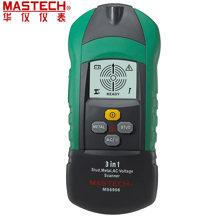 MASTECH MS6906 3 in 1 Multi-function Stud Metal AC Voltage Scanner Detector Tester Thickness Gauge w/ NCV Tester +Wood detector все цены