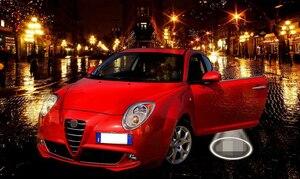 Image 5 - QCDIN 2pcs עבור אלפא רומיאו LED בברכה המכונית אור באדיבות דלת לוגו אור עבור אלפא רומיאו ג ולייטה 159 Giulia מיטו Stelvio בררה