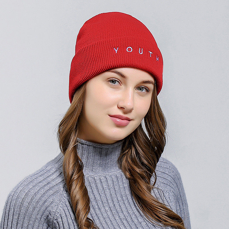 Women Men youth Letter Hat Winter Warm Knit Crochet Ski Hat Braided Baggy Beret Beanie Cap Hat BBYES For Outdoor 4 colors lovely 4 colors kids baby crochet knit cap knitting winter warm beret hat cap bb75