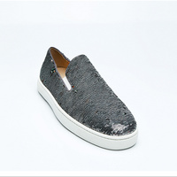 Handmade Men Shoes Slip On Men Loafers Sequined Cloth Glitter Men Flats Smoking Zapatos Hombre Casual Shoes Brand Oxford Shoes