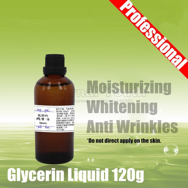 99.8% Alta Porcentagem de Glicerina Glicerina 120g Hidratante Clareamento Anti Rugas (Classe Médica)