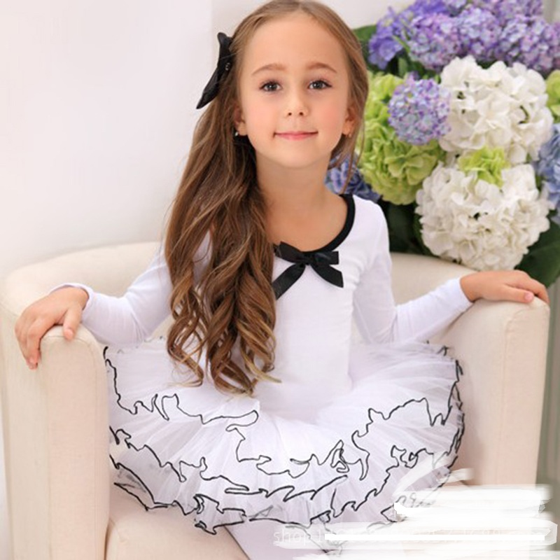 Girls Pretty Pink Swan Tutu Dress Long Ballerina Kids Ballet Kids Tutu Girls Gymnastics Leotard Ballerina Dresses YL535 new girls ballet costumes sleeveless leotards dance dress ballet tutu gymnastics leotard acrobatics dancewear dress