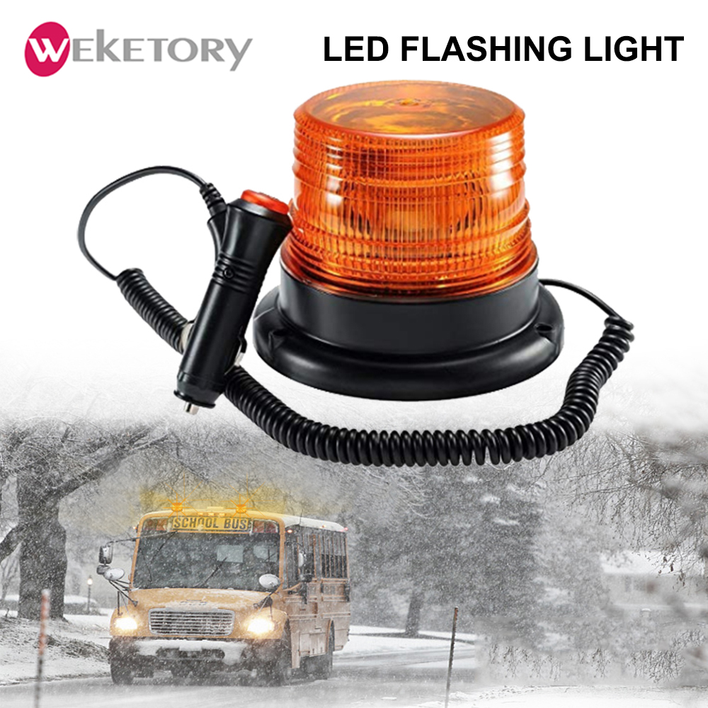 Sensible Led Car Truck Roof Strobe Light Police Fireman Warning Light Emergency Signal Lamp Amber 12/24v Beacon Flashing Indicator Light Online Discount Automobiles & Motorcycles