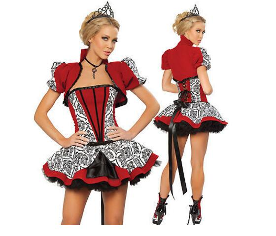 WOMENS BOOK WEEK DAY QUEEN OF HEARTS FAIRYTALE FANCY DRESS COSTUME