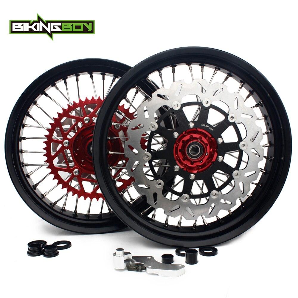 BIKINGBOY 3.5 4.5/4.25 17 Supermoto roue avant arrière moyeu disques de frein support pignon vis CRF 250 450 R 14 15 16 17 18